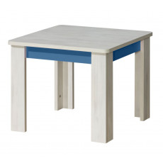 Table d'enfant Justus 02, couleur : pin bleu - Dimensions : 56 x 65 x 65 cm (h x l x p)
