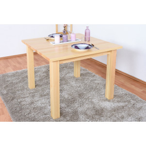 Table en bois du pin massif nature «Junco» 239C – Dimensions 75 x 100 x 100 cm