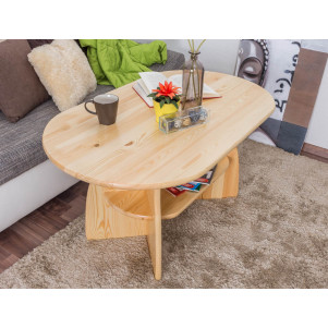 Table basse en bois de pin massif naturel 006 – Dimensions: 60 x 115 x 70 cm